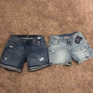 Two pairs of gap jeans shorts 5 inches